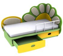 Игровая детская кровать Ромашка 3 (140х70) бортик не входит в стоимость
