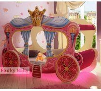Девичья кровать-машина Золушка (170х80см.)