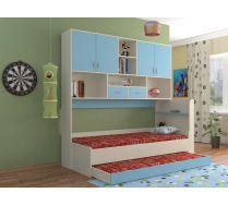 Кровать КР-01 детская мебель Портофино дуб кремона/голубой