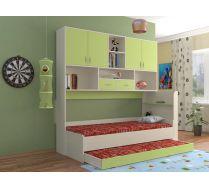 Кровать КР-01 детская мебель Портофино дуб кремона/зеленый