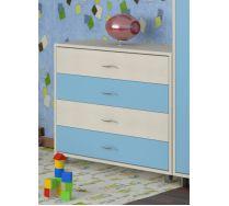 Комод КМ-01 детская мебель Портофино дуб кремона/голубой