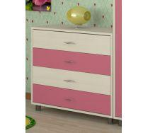 Комод КМ-01 детская мебель Портофино дуб кремона/розовый
