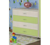 Комод КМ-01 детская мебель Портофино дуб кремона/салатовый