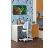 Стол СТ-01 детская мебель Портофино дуб кремона/оранжевый