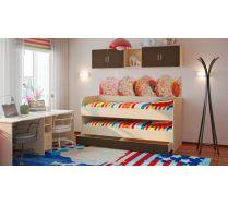 Двухъярусная кровать Орбита 17 с выдвижным спальным местом