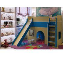 Кровать с горкой Орбита 20 - мебель детям