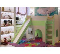 Кровать детская с горкой и игровой зоной Орбита 20