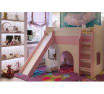 Кровать для девочек с горкой Орбита 20