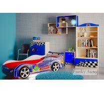 Мебель для детей Фанки Авто + детская кровать машина Турбо Кар Оптима (сп.место 160х75)