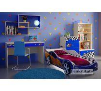 Мебель для детей Фанки Авто + кровать машина Форсаж Кар 3D Премиум (сп.место 160х75)
