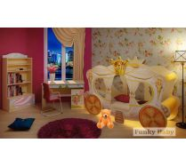 Карета Золушка + стол СТ-4 + тумба Т-5 + стеллаж С-2 мебель Фея
