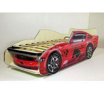 Кровать машина детская Мустанг-Молния Красная с ортопедической решеткой. Спальное место 150х70 или 170х70см