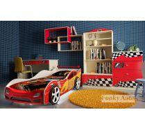 Мебель Фанки Авто + детская кровать машина Форсаж Кар 3D Премиум (сп.место 160х75)