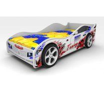 Детская кровать машина ЛОТУС КАР + 2 пластиковых колеса (сп.место 160х75)
