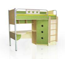 Детская кровать чердак ПР-2 - серия Полосатый рейс