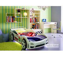 Детская мебель Фанки Авто + кровать машина ТУРБО КАР Оптима (сп.место 160х75)