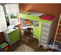 Кровать чердак для детей Фанки кидз 7