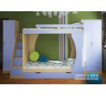 Двухъярусная кровать Фанки Кидз  -2 + модули СВ:пенал 13/10+ двухстворчатый шкаф 13/3 + тумба - лестница 13/8
