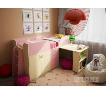 Детская кровать чердак для девочек Фанки Кидз 10