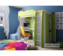 Кровать чердак Фанки Кидз 11 корпус сосна лоредо / фасад текстиль