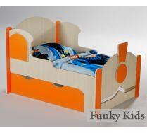 Кровать для детей Вырастайка Паровоз ширина 80 см. модель №4