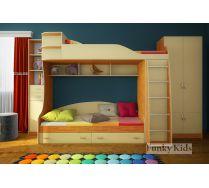 Мебель для детей - готовая композиция Фанки Кидз 12 + стеллаж 13/16 СВ + шкаф двухдверный 13/2 СВ