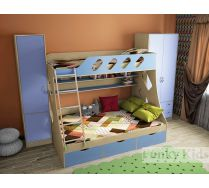 Детская мебель - готовая композиция Фанки Кидз 16 + шкаф13/3СВ + пенал13/10СВ