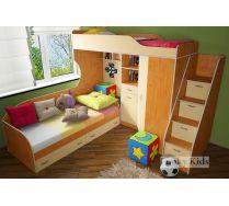 Мебель для двоих детей Фанки кидз 7 (Фанки Кидз 7/1 + лестница-комод 13/8СВ + кровать нижняя 13/7СВ)