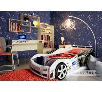 Объемная кровать машина Импульс Оптима + детская мебель Фанки Авто