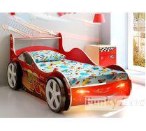 Кровать-машина с выдвижным ящиком Фанки Кидз Молния. Скидки!!!