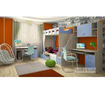 Комната для мальчиков - кровать Фанки 5 + лестница-комод 13/8СВ + 13/1СВ + 13/14СВ
