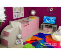Готовая композиция - комната для девочки Фанки Кидз 9 + тумба - лестница 13/19СВ + подставка под ТВ 13/22СВ