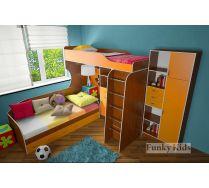 Комната для двоих детей Фанки 7 (кровать верхняя Фанки 7/1 + кровать нижняя 13/7СВ + секретер 13/9СВ)