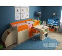 Комната для малыша - кровать Фанки 10 + лестница-комод 13/19СВ + подставка под ТВ 13/22СВ