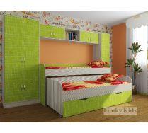 Двухъярусная кровать Фанки-8 с модулями СВ: шкаф 13/2 + мост 13/50 + шкаф 13/10