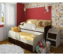 Двухъярусная кровать Фанки Кидз 8 + лестница 13/19СВ  + огранечитель 13/17СВ - 2 шт.