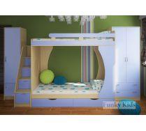 Детская комната для 2х мальчиков - кровать Фанки Кидз 2 + модули СВ: шкаф 13/3 + лестница 13/8 + пенал 13/10