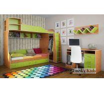 Детская комната - кровать Фанки Кидз 12 + стол 13/1СВ + полка 13/11СВ