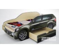 Кровать-машина для детей Фанки БМВ Х5 со спальным местом 170х80 см