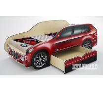 Детская кровать-машина Фанки БМВ Х5 с выдвижным ящиком
