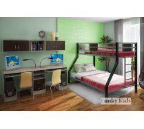 Детская металлическая кровать Фанки Лофт 2 + письменный стол 13/51СВ и мост 13/50СВ