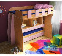 Кровать с двумя кроватями и двумя столами Фанки Кидз 19+лестница 13/57СВ