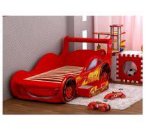 Кровать машина для детей с выдвижным ящиком Молния Плюс