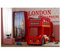 Кровать-автобус Лондон Престиж с ортопедической решеткой в комплекте 160х70см или 170х70см