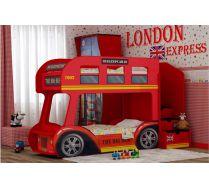 Кровать Автобус Лондон комплектации стандарт спальное место на выбор 160х70см или 170х70см