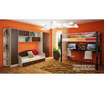 Подростковая кровать чердак Лофт 3 с модулями СВ (13/12 + 13/7 + 13/2 + 13/10 + 13/56)