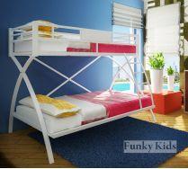 Двухъярусная металлическая кровать Фанки Лофт 4