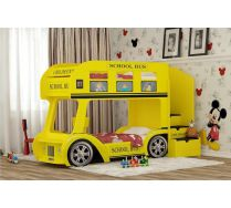 Кровать для двоих детей Автобус Школьный стандарт спальное место 70х160см или 70х170см