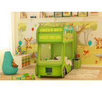 Винни Пух кровать автобус Ред Ривер с матрацами в комплекте 160х70см или 170х70см