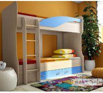 Двухъярусная кровать Фанки Соло 4 в детскую комнату